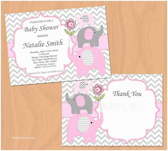 Inexpensive Baby Shower Invitations Baby Shower Invitation Girl Baby Shower Invitation by