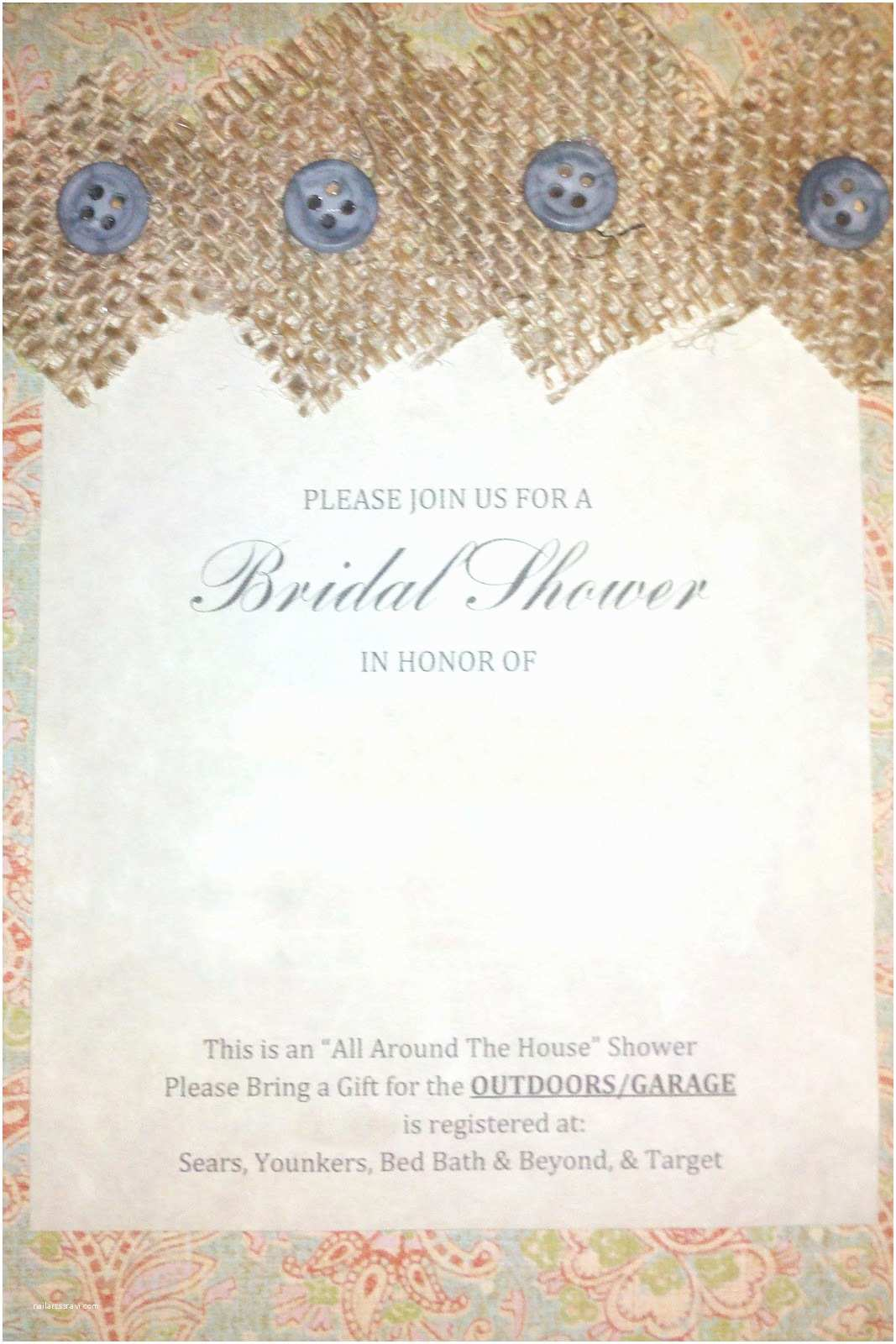 Inexpensive Bridal Shower Invitations Chronicles Of A Frugal Gardener Inexpensive and Unique