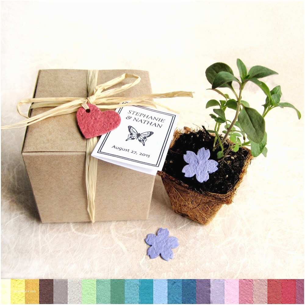 Inexpensive Plantable Wedding Invitations 30 Flower Seed Wedding Favors Box Planting Kit with Plantable