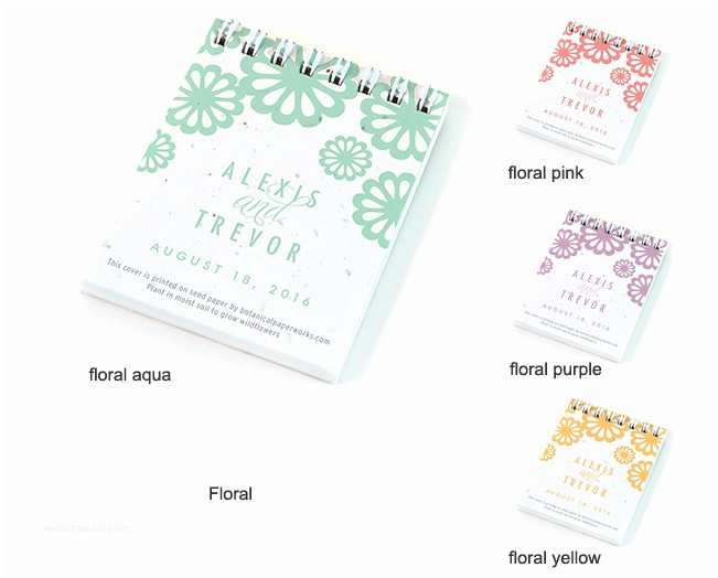 Inexpensive Plantable Wedding Invitations Personalized Plantable Notepad Favor Eco Friendly