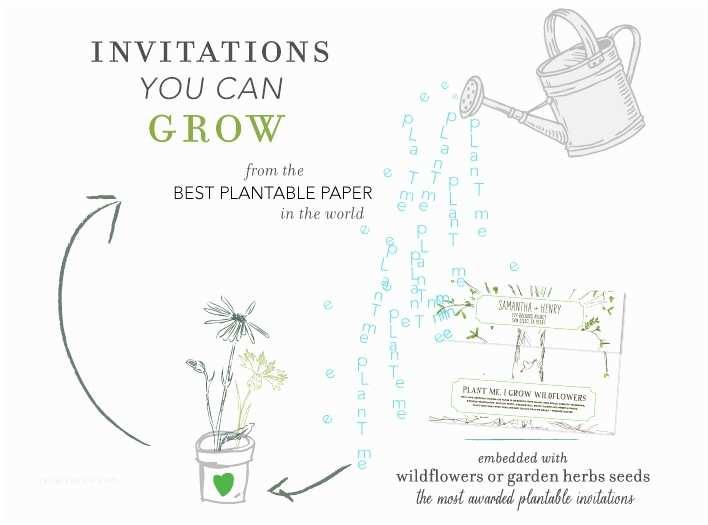 Inexpensive Plantable Wedding Invitations Plantable Wedding Invitations Sansalvaje
