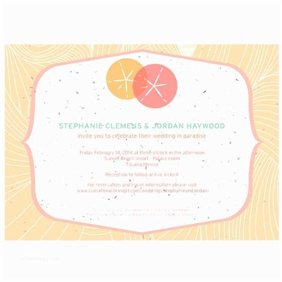 Inexpensive Plantable Wedding Invitations Sand Dollar Plantable Wedding Invitation