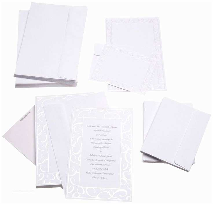 Inexpensive Wedding Invitation Packages Cheap Wedding Invitations for $20 ♥ ♥ ♥ Kit Includes 50