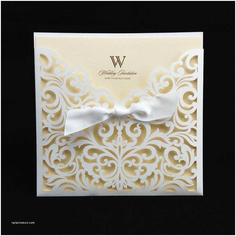 Inexpensive Wedding Invitation Packages Ivory Cheap Laser Cut Wedding Invitation Packages 145