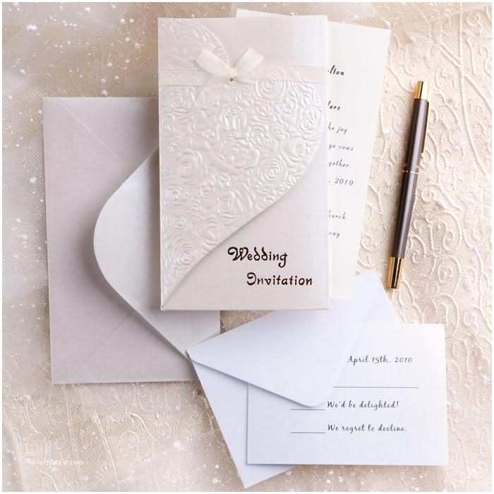 Inexpensive Wedding Invitation Packages Less Than $2 Best Elegant and Inexpensive Hearts Embossed