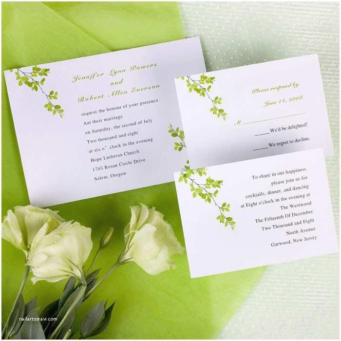 Inexpensive Wedding Invitations Modern Green Wind Bell Printable Online Wedding