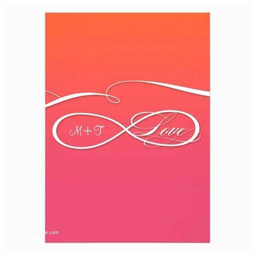 Infinity Symbol Wedding Invitations Infinity Symbol Sign Infinite Love Wedding Ombre 5x7 Paper