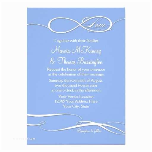 "Infinity Symbol Wedding Invitations Infinity Symbol Sign Infinite Love Wedding Set 5"" X 7"