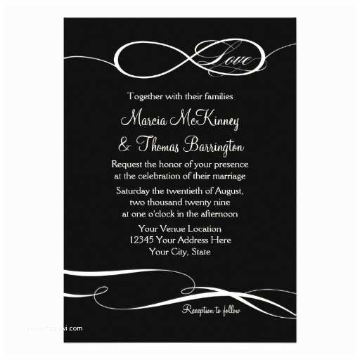 Infinity Symbol Wedding Invitations Infinity Symbol Sign Infinite Love Weddings Scroll