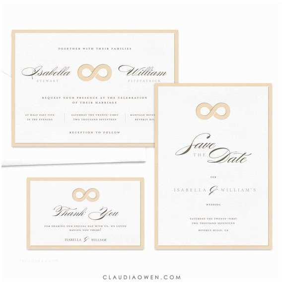 Infinity Symbol Wedding Invitations Infinity Symbol Wedding Invitation Suite Elegant Wedding