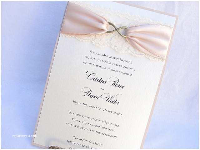Infinity Symbol Wedding Invitations Lace Wedding Invites