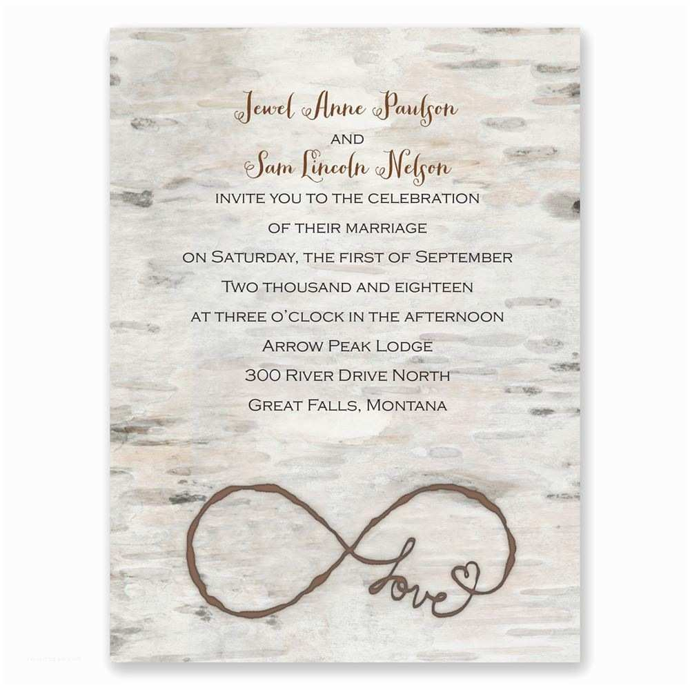 Infinity Symbol Wedding Invitations Love for Infinity Petite Invitation