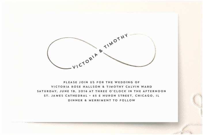 Infinity Symbol Wedding Invitations Science Math Pop Culture Nerdy Wedding Invitations
