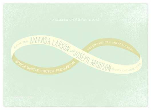 Infinity Symbol Wedding Invitations Wedding Invitations Infinity Ribbon at Minted