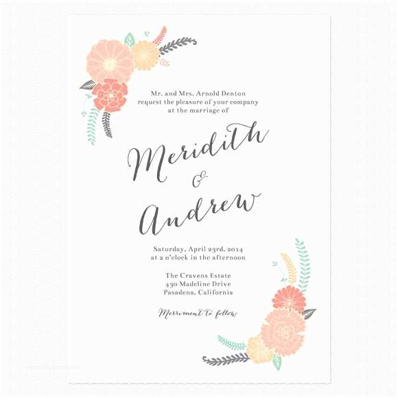 Informal Wedding Invitation Wording Casual