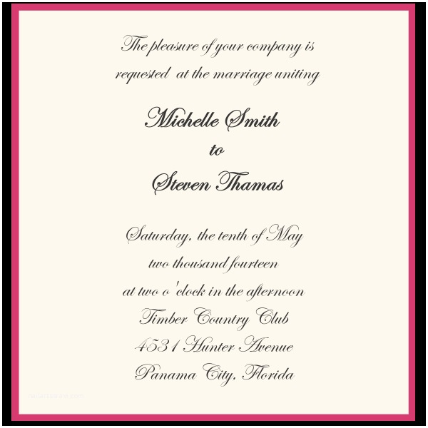 Informal Wedding Invitation Wording Exclusive Informal Wedding Invitation Wording