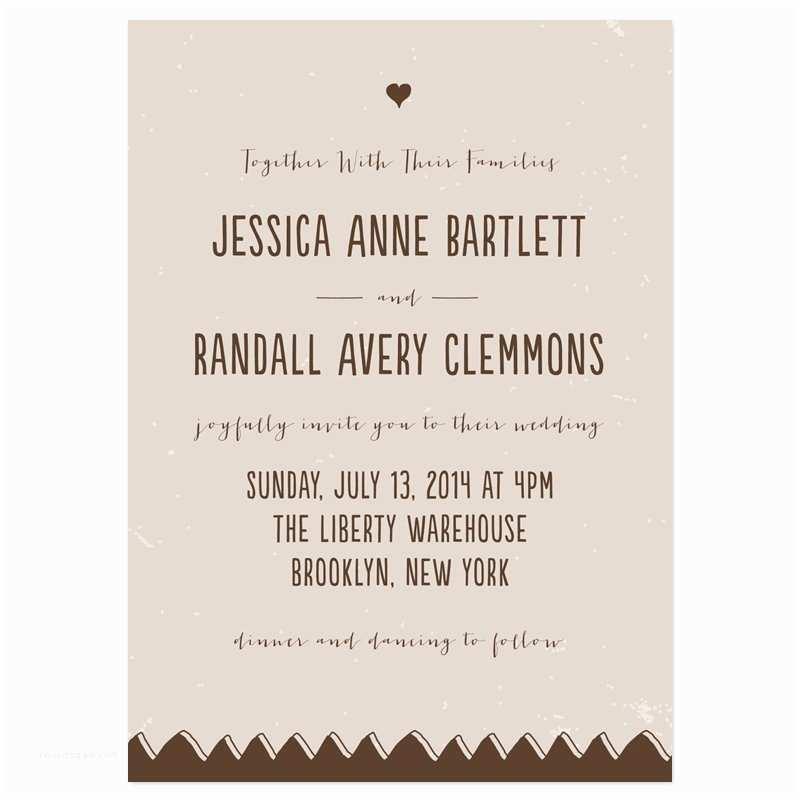 Informal Wedding Invitations Casual Wedding Invitation Wording