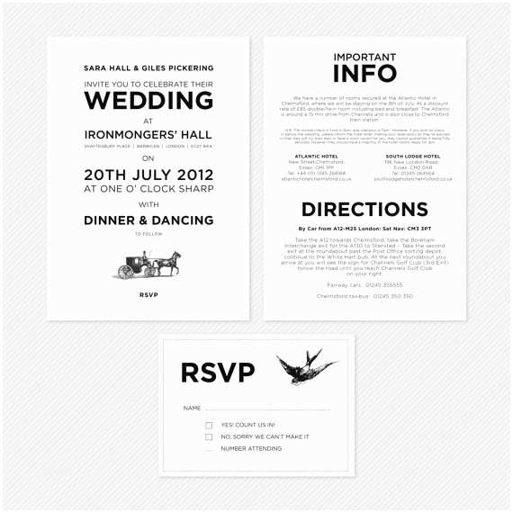 Information to Include On Wedding Invitation Info Card Wording Design