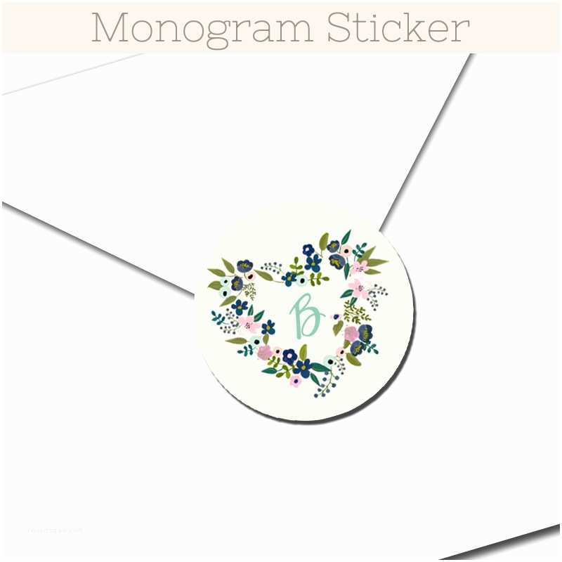 Initial Stickers For Wedding Invitations Fl Hearts Pink