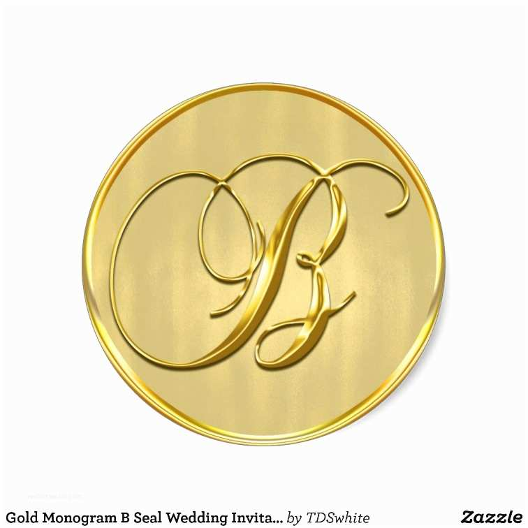 Initial Stickers for Wedding Invitations Gold Monogram B Seal Wedding Invitation Holiday Classic