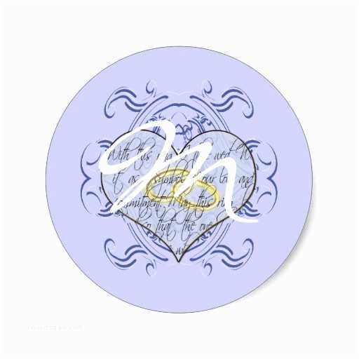 Initial Stickers for Wedding Invitations Monogram Wedding Invitations & Gifts Classic Round Sticker