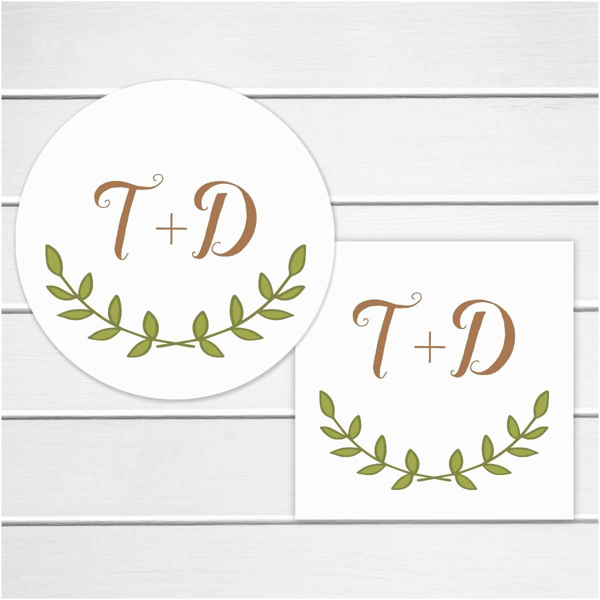 Initial Stickers for Wedding Invitations Rustic Wedding Sticker Personalized Wedding Invitation