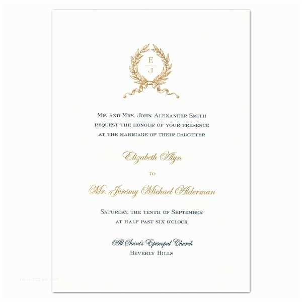 Initial Stickers for Wedding Invitations Wreath Monogram Engraved White Embassy Wedding Invitations