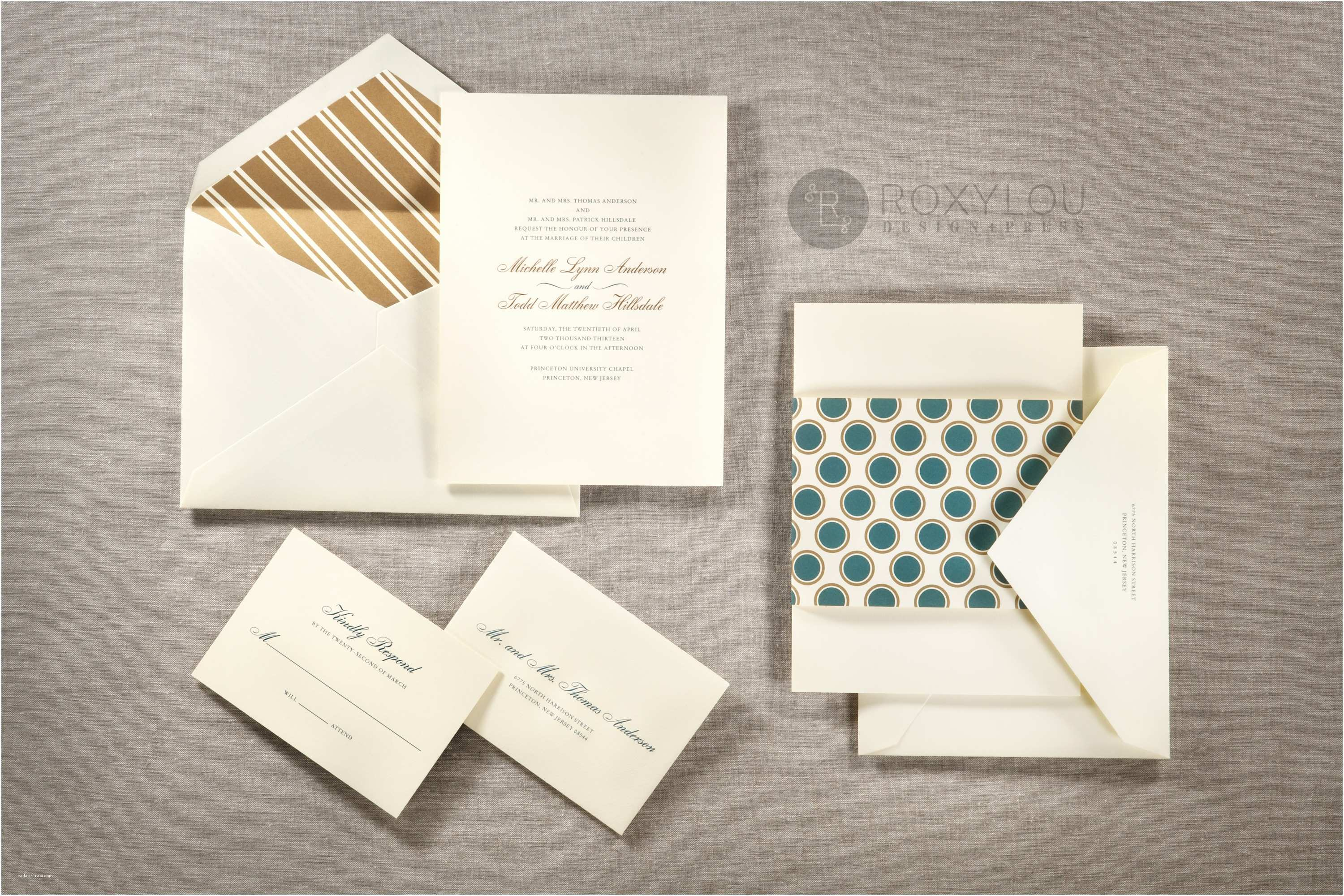 Inner and Outer Envelope Sizes for Wedding Invitations Hampton Wedding Invitations • Staccato