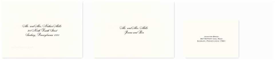 Inner and Outer Envelope Sizes for Wedding Invitations How Do You Address Inner Envelopes for Wedding Invitations