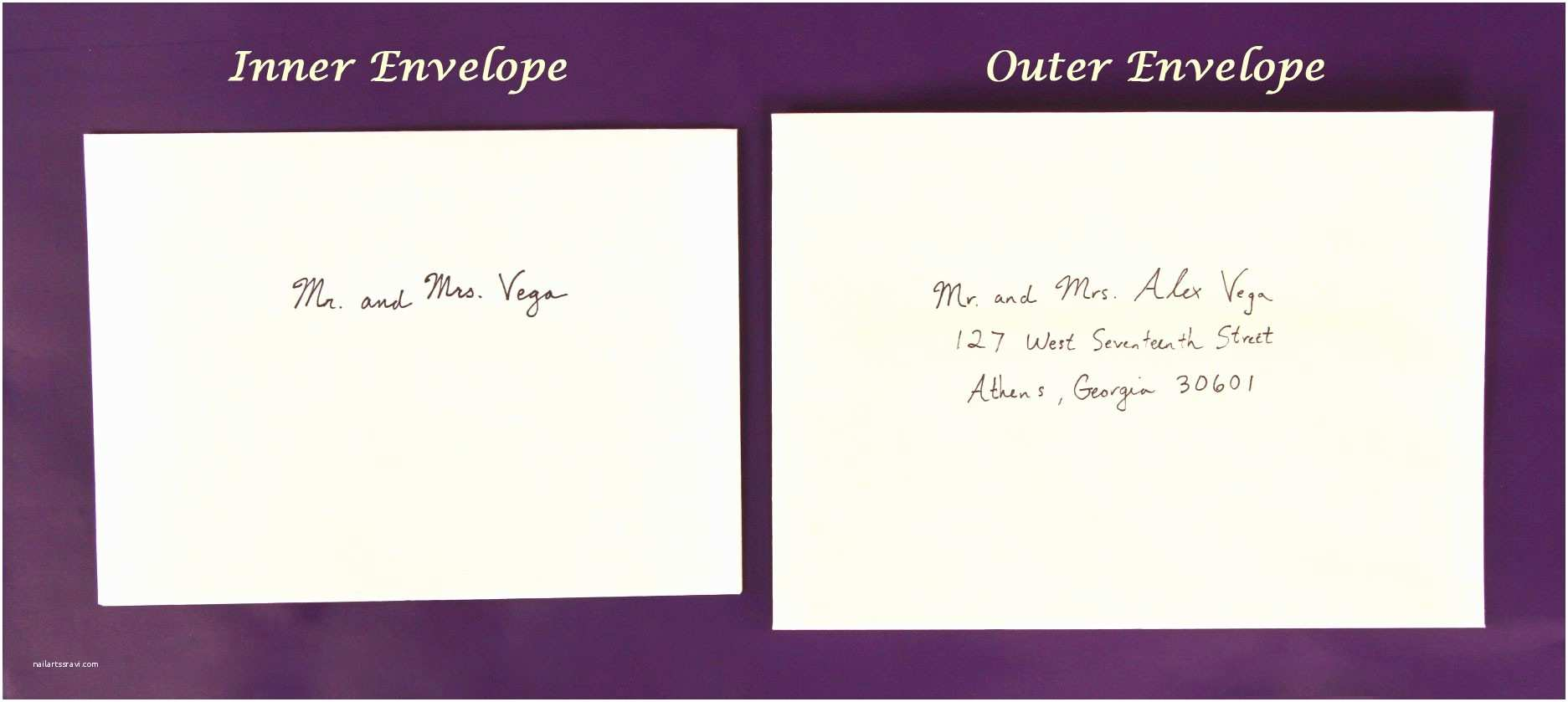 Inner and Outer Envelope Sizes for Wedding Invitations How to Address Wedding Invitations