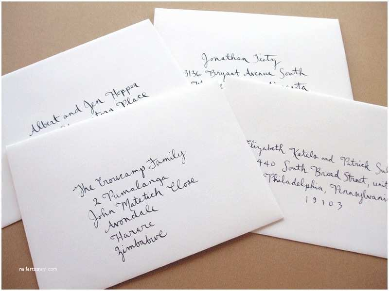 Inner and Outer Envelope Sizes for Wedding Invitations How to Address Wedding Invitations without Inner Envelope