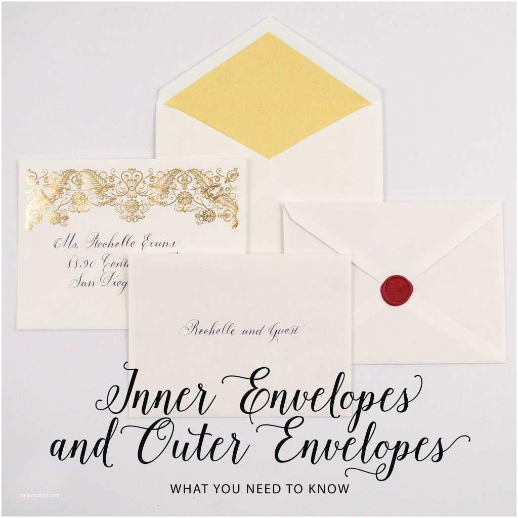 Inner and Outer Envelope Sizes for Wedding Invitations Wedding Invitation Wording Etiquette Outer Envelope