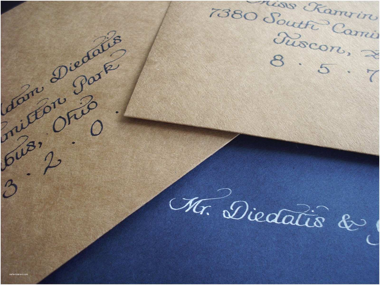 Inner and Outer Envelopes for Wedding Invitations From the ash Tree Meadow Calligraphy Addressing