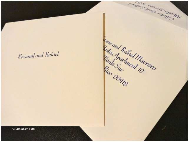 Inner and Outer Envelopes for Wedding Invitations Lkm Calligraphy