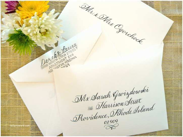 Inner and Outer Envelopes for Wedding Invitations Simply Handwritten Diy Wedding Invitations and Envelope