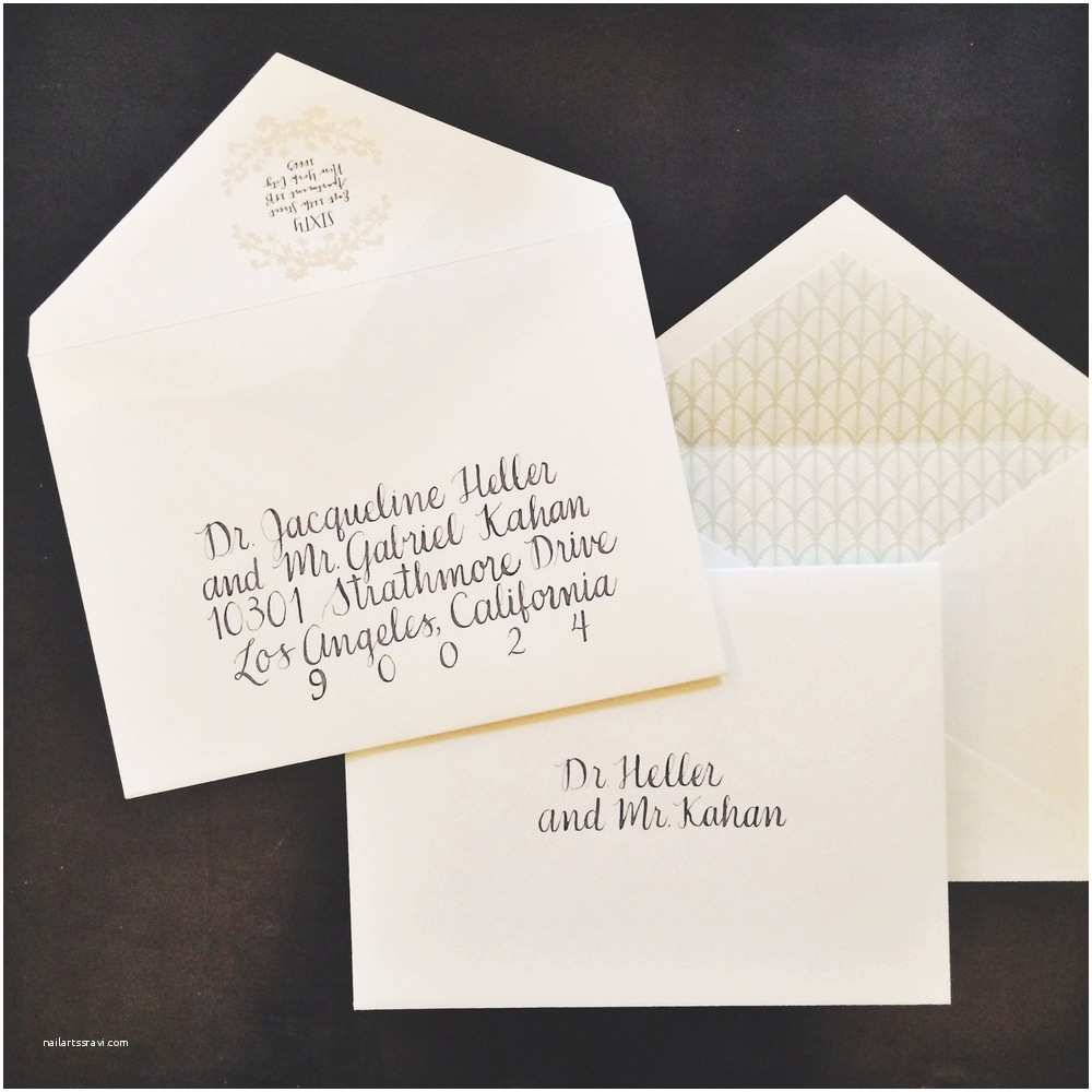 Inner and Outer Envelopes for Wedding Invitations Wedding Invitation Outer Envelope Etiquette Yaseen for
