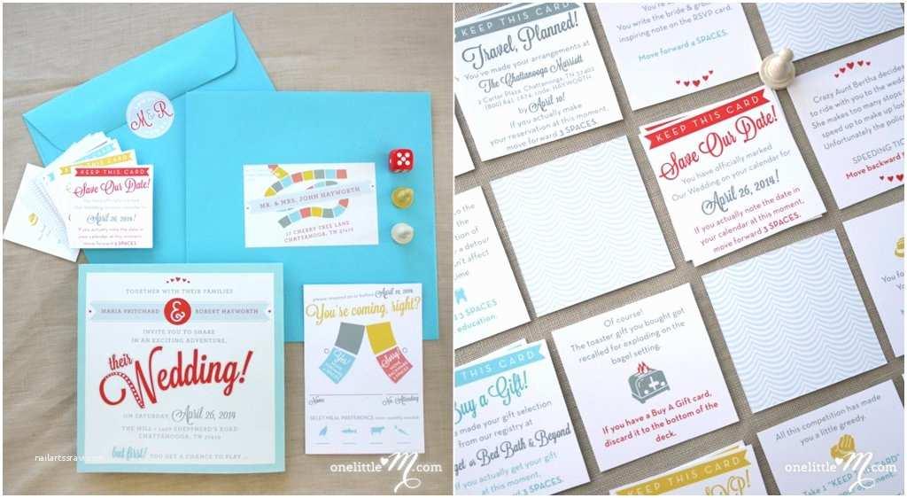 Interactive Wedding Invitations Board Game Wedding Invitation
