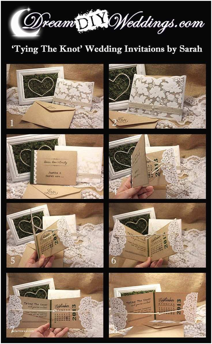 Interactive Wedding Invitations Interactive Tying the Knot Diy Wedding Invitations or