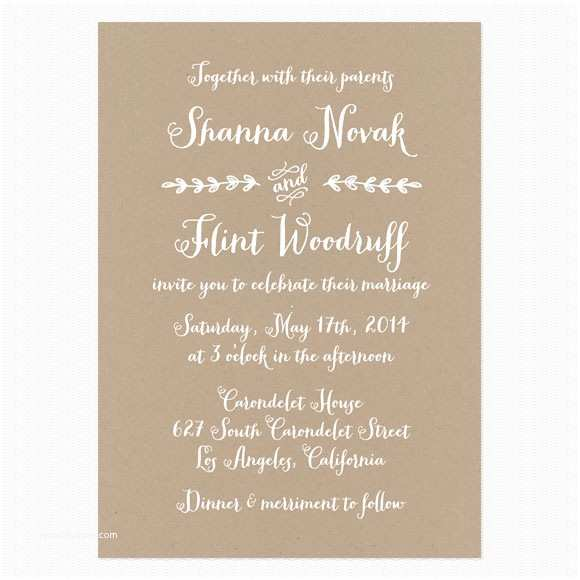 Intimate Wedding Invitation Wording Casual Wedding Invitation Wording