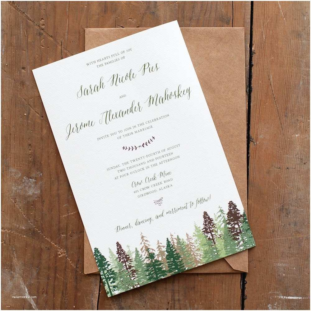 Intimate Wedding Invitation Wording Wedding Invitation Tree Wedding Invitation Mountain Wedding
