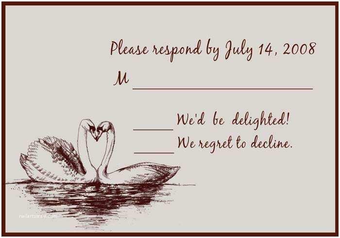 Intimate Wedding Invitations Intimate Swan Flat Wedding Invitation Uki093 [uki093] £0