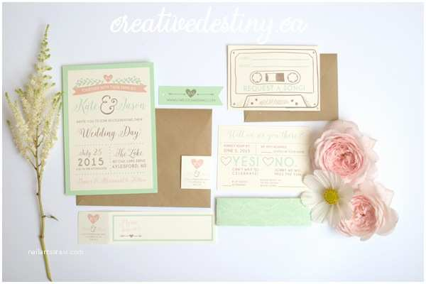 Intimate Wedding Invitations K Js Intimate Cottage Wedding Stationery With