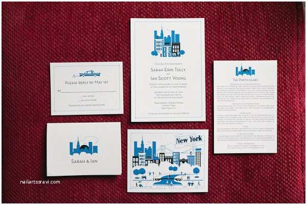 Intimate Wedding Invitations Real Weddings Sarah And Ian S Central Park