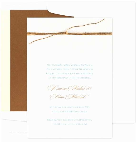 Intimate Wedding Invitations Traditional Wedding Invitations at Einvite