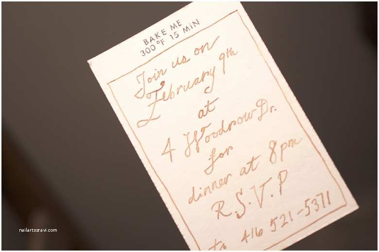 Invisible Ink Wedding Invitations the Wardens today How to Craft A Mysterious Invitation
