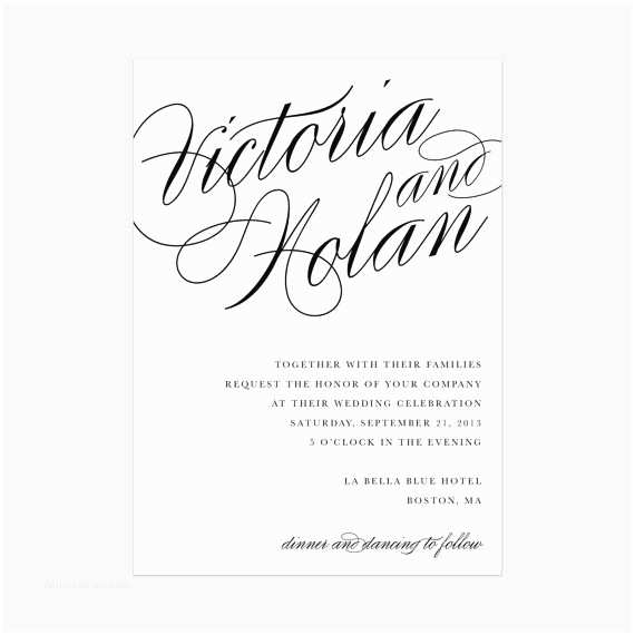 Invitation Only Wedding Calligraphy Wedding Invitation Ly
