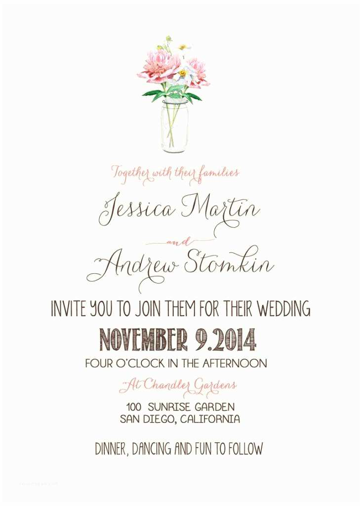 Invitation Sayings for Weddings Casual Wedding Invitation Wording