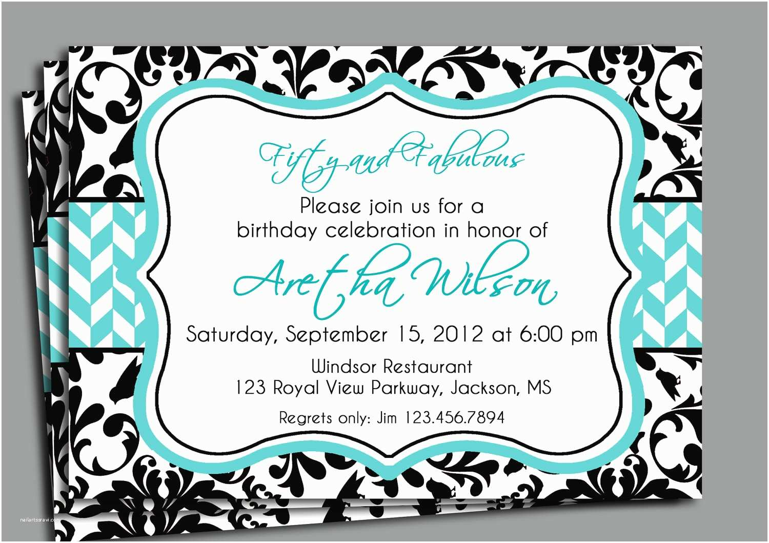 Invitation Wording for Adults Only Party Black Damask Invitation Printable Bridal Shower Adult
