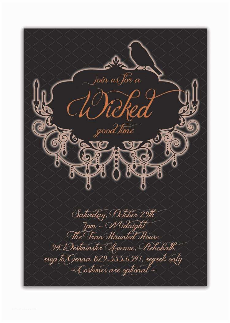 Invitation Wording for Adults Only Party Halloween Party Invitation Adult Costume by Digibuddhapaperie