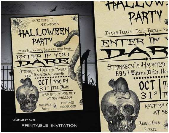 Invitation Wording for Adults Only Party Halloween Party Invitation Printable Adult Halloween